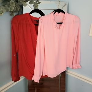 2 for 1 Red and Pink Blouses